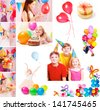 children birthday - stock photo