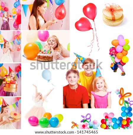 children birthday - stock photo