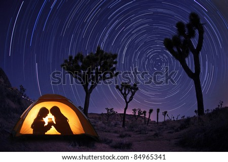 Children C&ing at Night in a Tent With Star Trails & Children Camping Night Tent Star Trails Stock Photo 84965341 ...