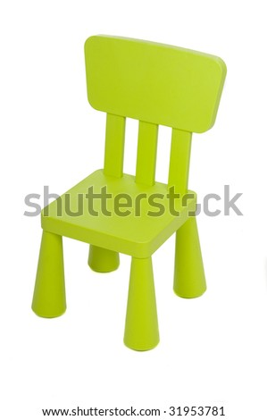 children chair isolated in white - stock photo