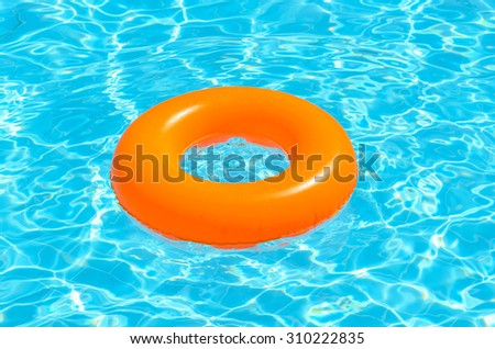 Children circle for swimming in the pool. Photo for microstock - stock photo