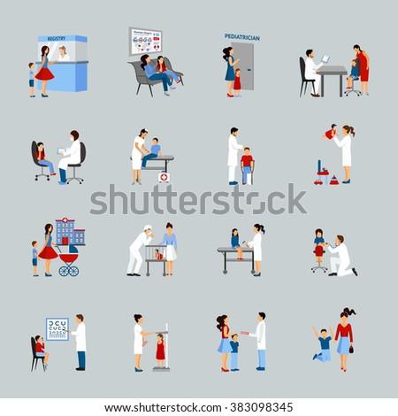 Children Doctor Pediatrician Set - stock photo