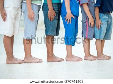 Children feet - stock photo