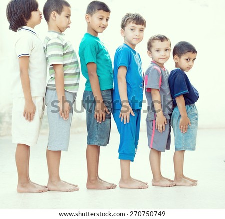 Children feet - stock photo