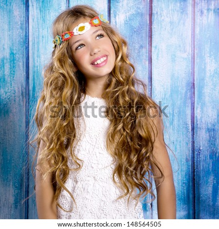 children friends girls playing together in vacation at tropical colorful house - stock photo