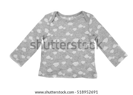 Children gray jacket, isolate on white background