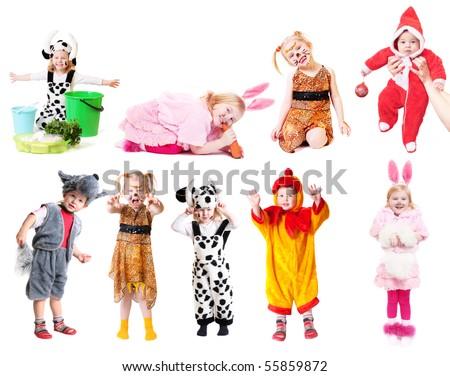 children in fancy dress - stock photo