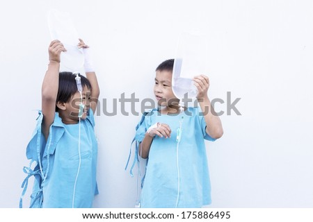 Children in hospital - stock photo