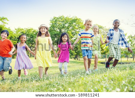 Children in Park - stock photo