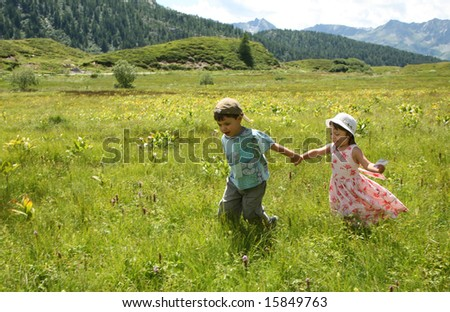 children in the mountain