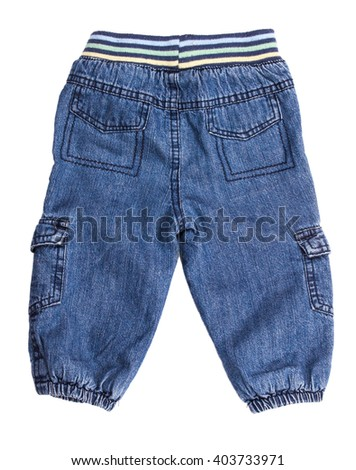 Children jeans isolated on a white background