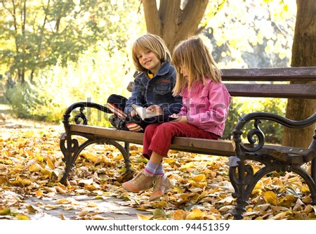 children learn the nature - stock photo