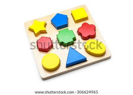 Children logic toy - stock photo