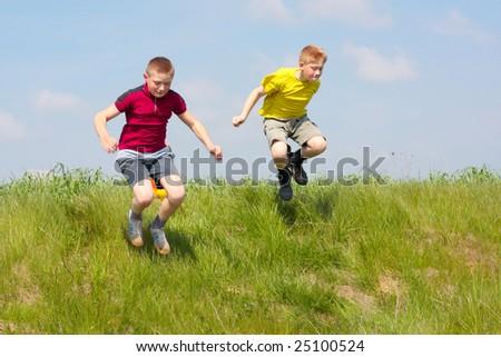 children outdoor - stock photo
