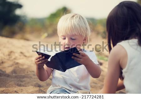 CHILDREN PLAY - stock photo