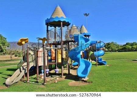 stock-photo-children-play-area-toys-outd