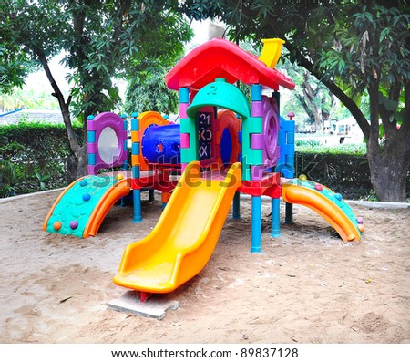 Children playground colorful - stock photo