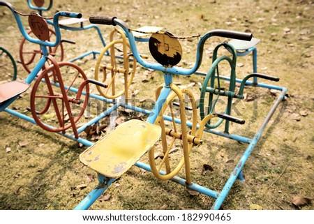 Children playground in the park - stock photo
