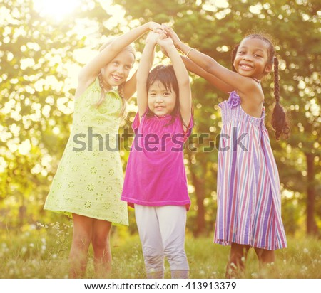 Children Playing Concept - stock photo