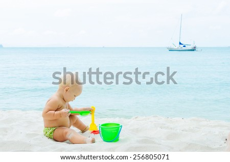 Children playing on the coastline