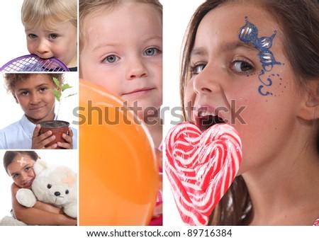 Children portraits - stock photo