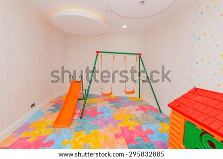 Children room with many toys - stock photo