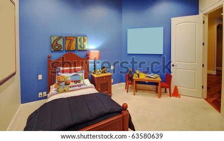 Children's Bedroom in Luxury Home - stock photo