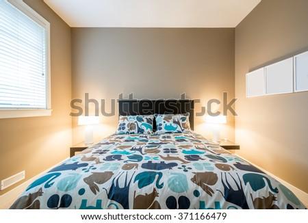 Children's bedroom playroom. Interior design. - stock photo