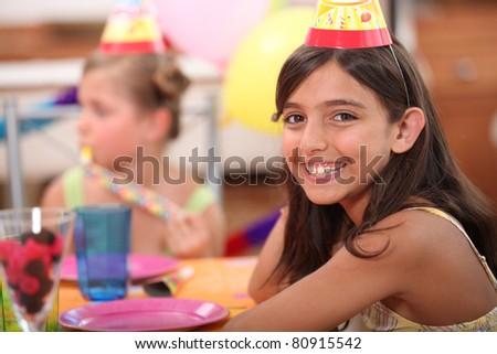 Children's birthday party - stock photo