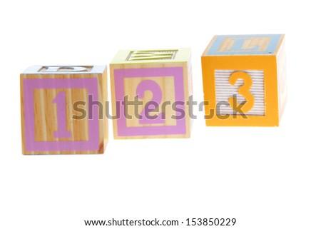 Children's blocks with numbers - stock photo