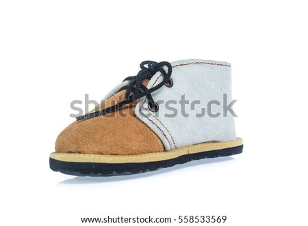 children's boy shoes on white background isolated