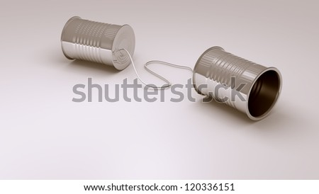children's can phone - stock photo