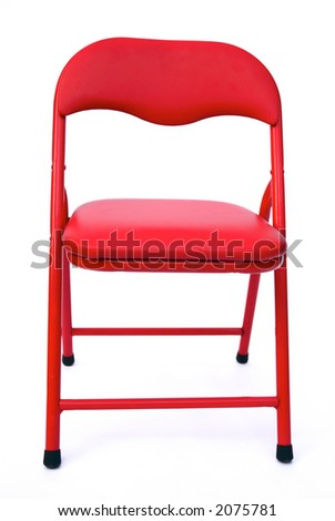 children's chair isolated on white - stock photo