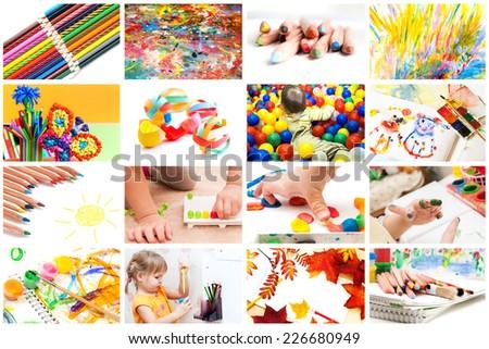 Children's creativity - stock photo