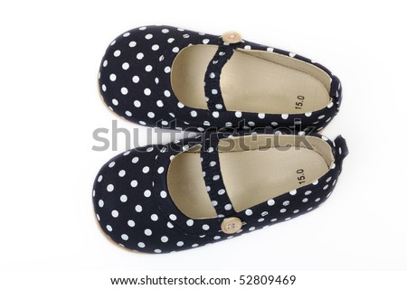 Children's footwear on a white background - stock photo