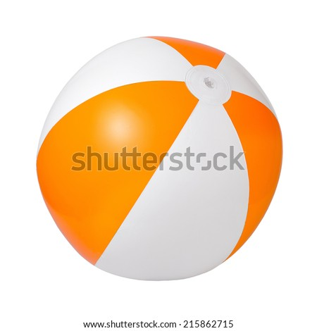 Children's inflatable ball. Insulated on white background - stock photo