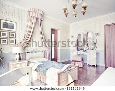 children's luxury room interior 3d image  - stock photo