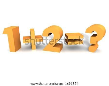 Children's Mathematic Class - stock photo