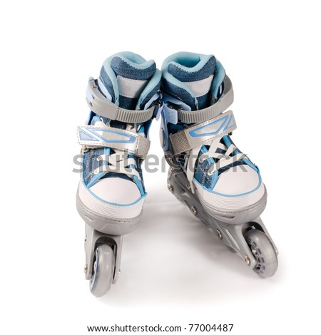 Children's new rollers isolated - stock photo