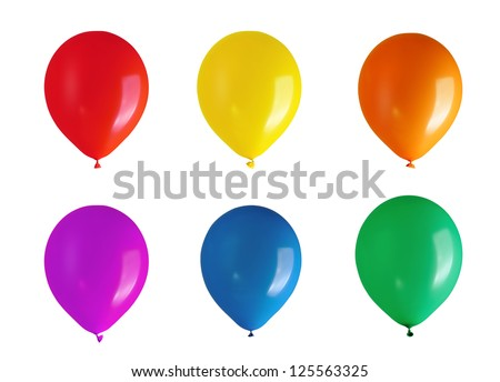 Children's party balloons - stock photo