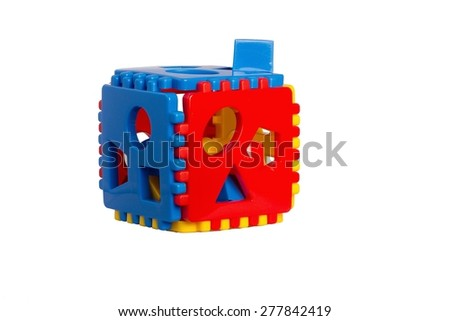 Children's plastic puzzle game