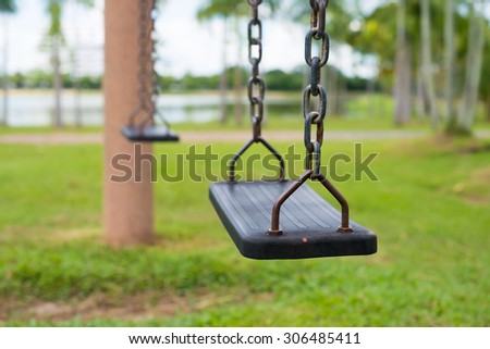 Children's playground swing