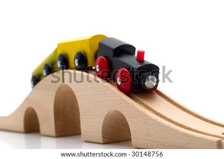 Children's railway isolated on a white background - stock photo
