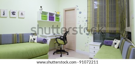 Children's room interior design - stock photo