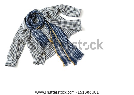 Children's shirt and scarf - stock photo