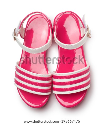 children's shoes isolated on a white background - stock photo