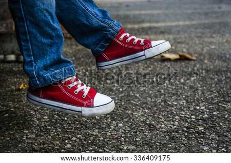 Children's shoes. Stylish baby clothes. Fashion. - stock photo