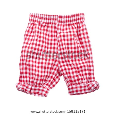 children's shorts  on a white background.