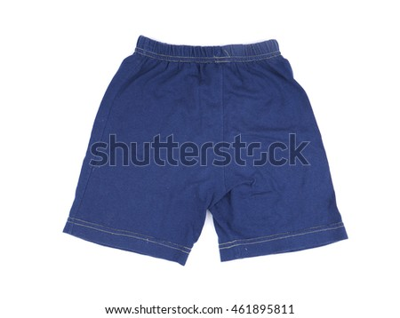 children's shorts on a white background
