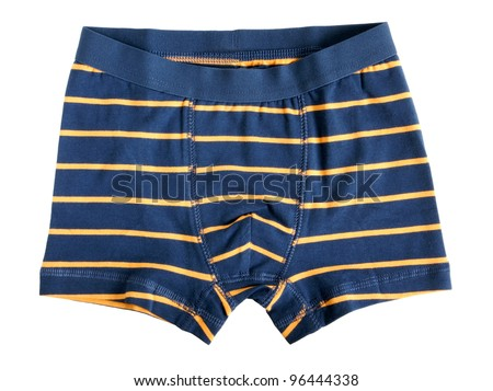 Children's striped pants isolated on a white background - stock photo